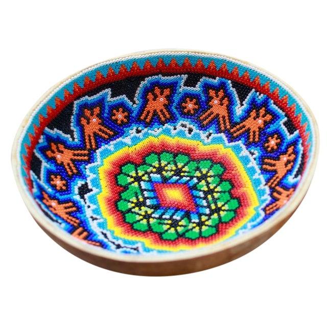 Huichol Ceremonial Beaded Bowl - Image 1 of 5