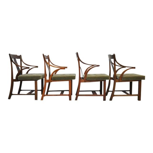 "Dunbar Set of Four ""Greene & Greene"" Chairs by Edward Wormley - Image 2 of 8"