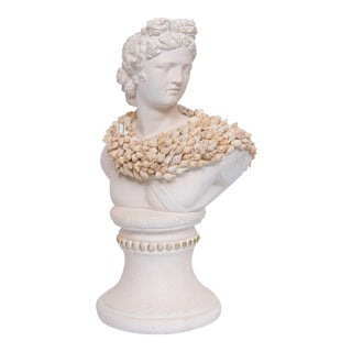 Shell Encrusted Composition Bust For Sale