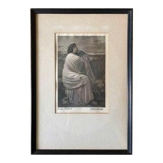 Early 20th Century Etching Depicting Greek Mythology Figure 'Iphigenia' For Sale