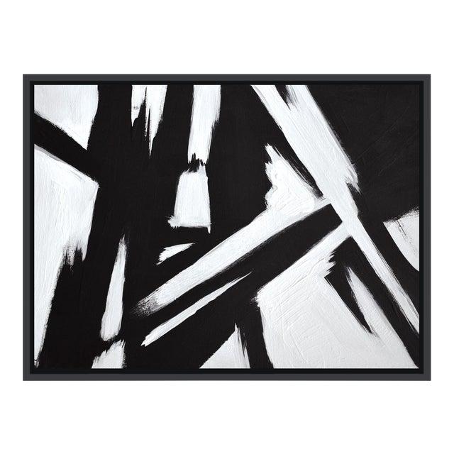 Abstract Black & White Slash - Frame Print 30x40 For Sale