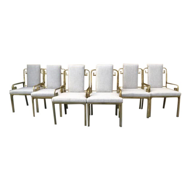 Mastercraft Greek Key Dining Chairs - Set of 6 For Sale