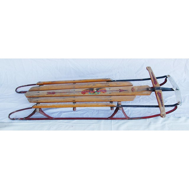 1950s Vintage Flexible Flyer Snow Sled Chairish