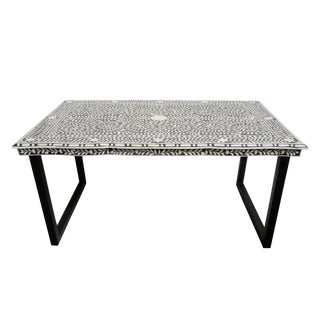 Inlay Black & White Desk For Sale