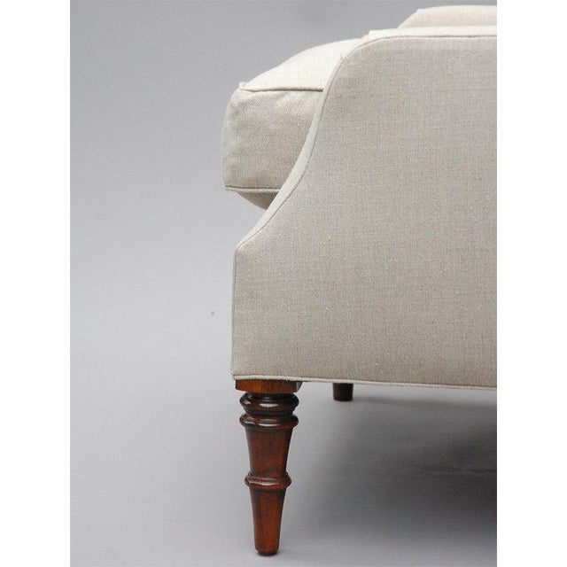 "White ""Selby"" by Lee Stanton Armchair Upholstered in Belgian Linen or Custom Fabric For Sale - Image 8 of 10"