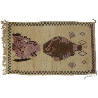 Vintage Berber Moroccan Rug, 5'3x8'7 For Sale
