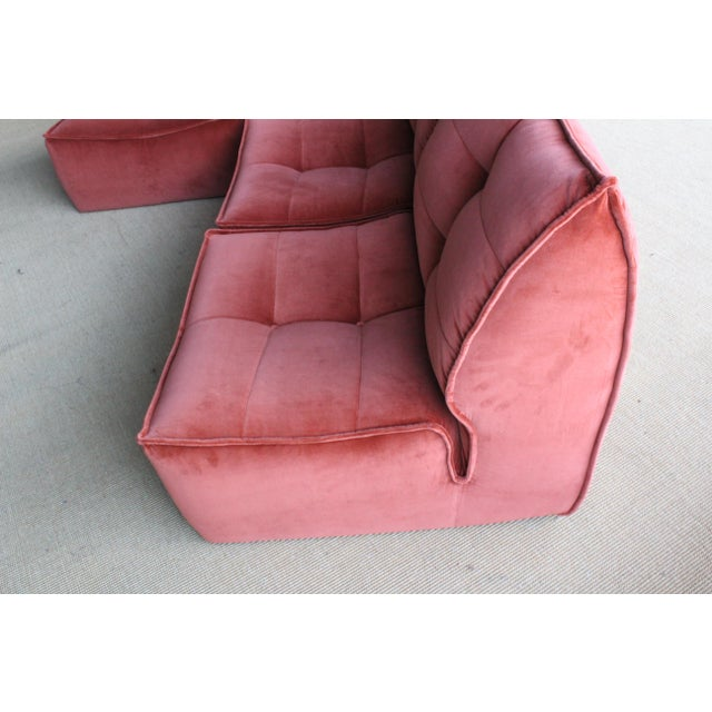 Four-Piece Sectional Sofa, Italy, 1960s For Sale - Image 11 of 12