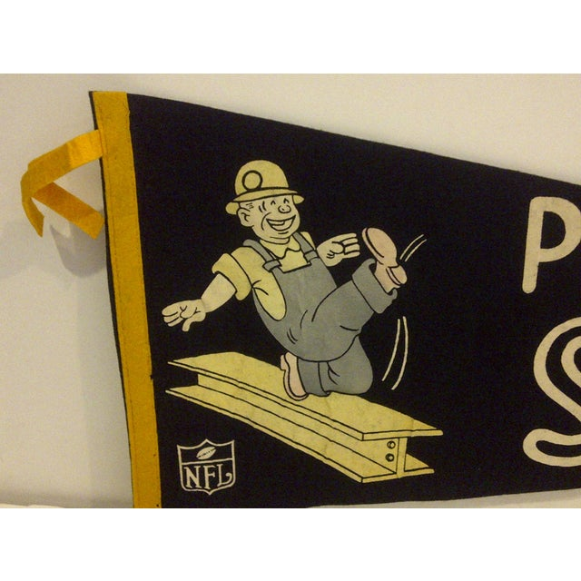 Mid-Century Modern Vintage Football Team Pennant - Pittsburgh Steelers Circa 1950 For Sale - Image 3 of 7