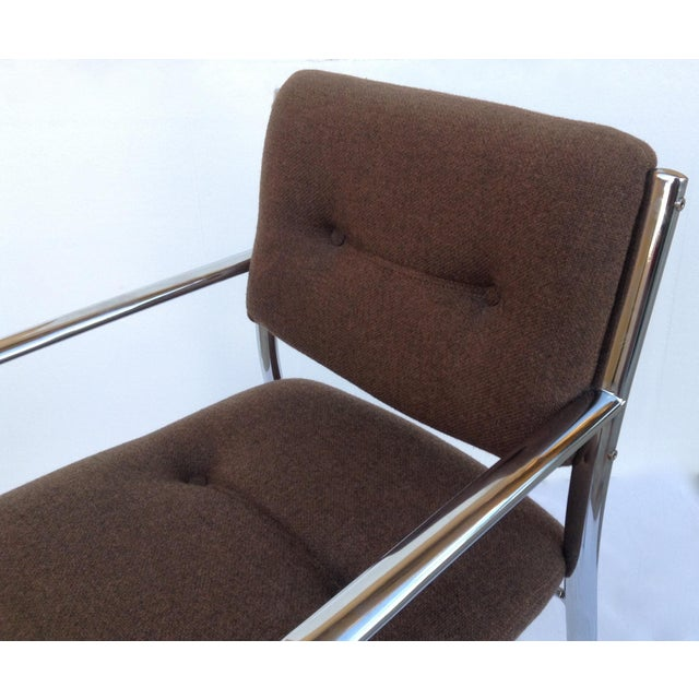 Chrome Mid-Century ChromCraft Chrome Arm Chair For Sale - Image 7 of 11