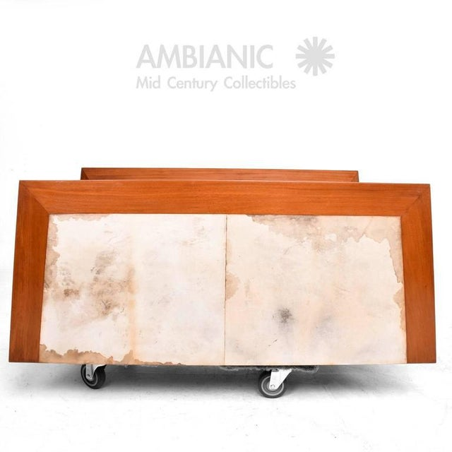 Mexican Modernist Cabinet With Parchment Doors For Sale - Image 4 of 10