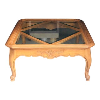 Vintage French Cabernet Drexel Heritage Coffee Table For Sale
