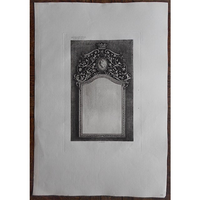 Antique Decor Etching - Image 2 of 3