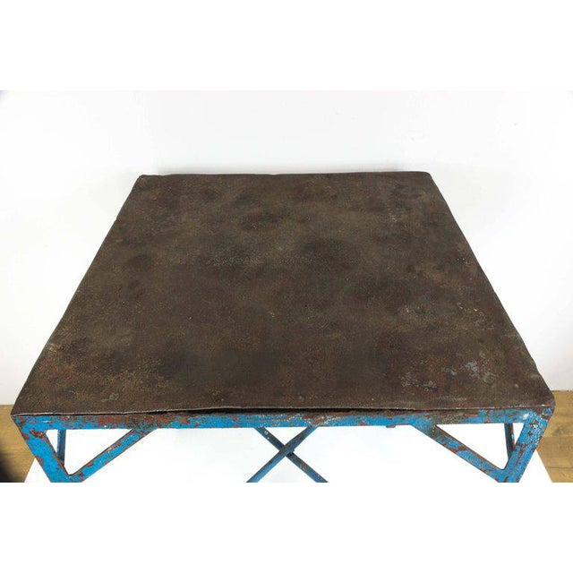 French Industrial Table on Casters For Sale - Image 4 of 7