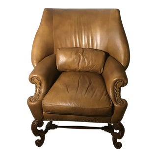 1950s Vintage Ferguson Copeland Collection Charles II Cowl Wing Back Chair For Sale
