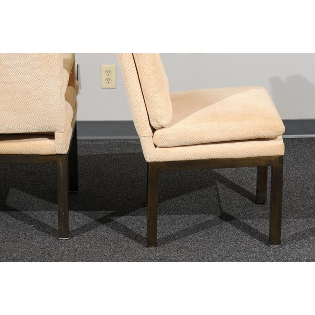Sophisticated Set of 10 Brass Parsons Dining Chairs by John Stuart, Circa 1968 For Sale - Image 12 of 13