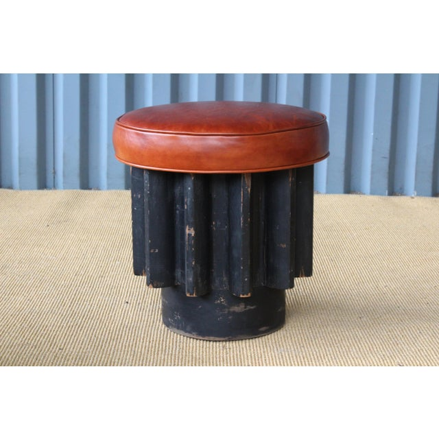 Industrial Gear Cog Stools, California, 1940s For Sale - Image 4 of 11