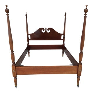 Biggs/Kittinger Double Chippendale Style Mahogany Poster Bed