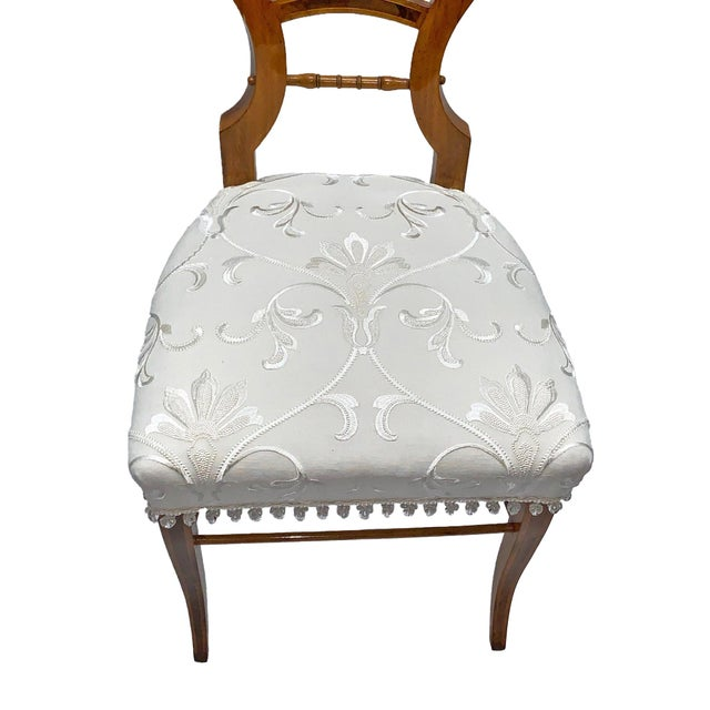 Neoclassical Early 19th Century Neoclassical Biedermeier Side Chairs - a Pair For Sale - Image 3 of 8