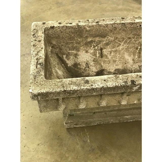 Rectangular Cast Stone Planter - Image 4 of 7
