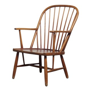 1900s Vintage Swedish Winsor Design Chair For Sale