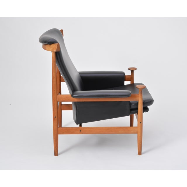 Brown Black Reupholstered Bwana Model 152 Lounge Chair by Finn Juhl for France & Son For Sale - Image 8 of 12
