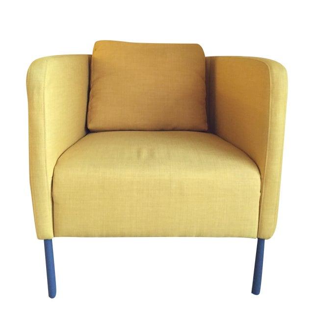 Modern Yellow Chairs - Pair - Image 1 of 3