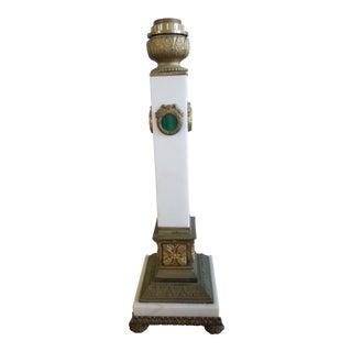 Italian Marble & Malachite Table Lamp For Sale
