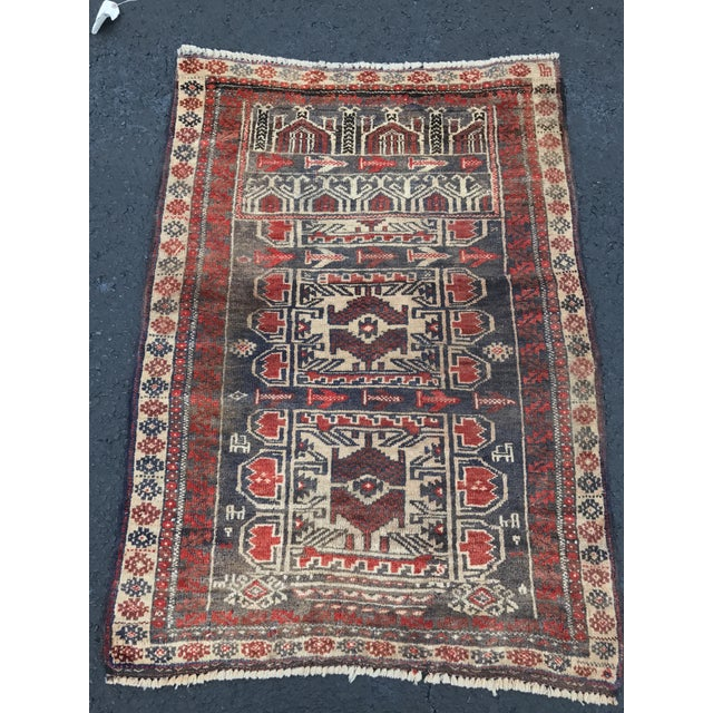 "Vintage Persian Baluchi Rug - 2'6""x3'5"" - Image 11 of 11"