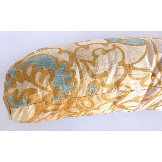 Barbara Beckmann Hand-Printed Silk Bolster Pillows, Pair For Sale - Image 4 of 9