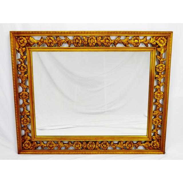 Gold Gilt Pierced Wall Mirror - Image 2 of 9