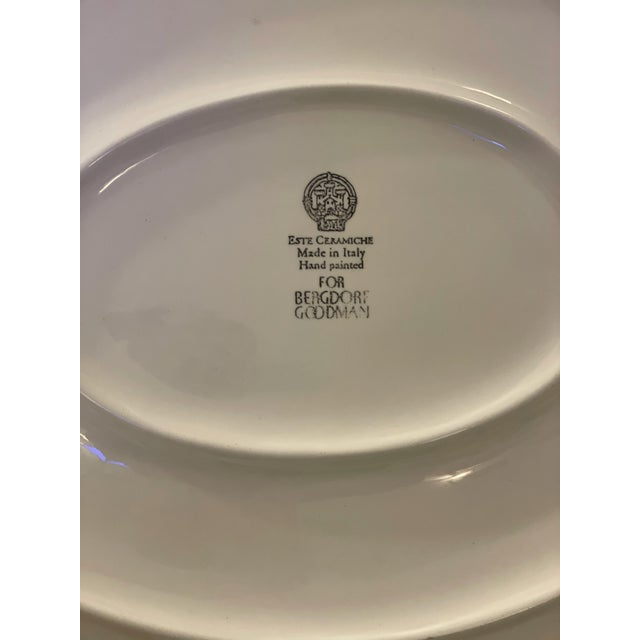 Ceramic Late 20th Century Vintage Este Ceramiche for Bergdorf Goodman Cabbage Platter For Sale - Image 7 of 8