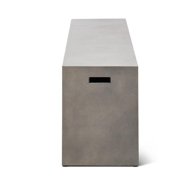 "Mid-Century Modern Una 60"" Bench, Dark Grey For Sale - Image 3 of 5"