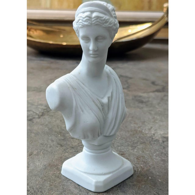 American Miniature Fine Porcelain Diana Bust For Sale - Image 3 of 8