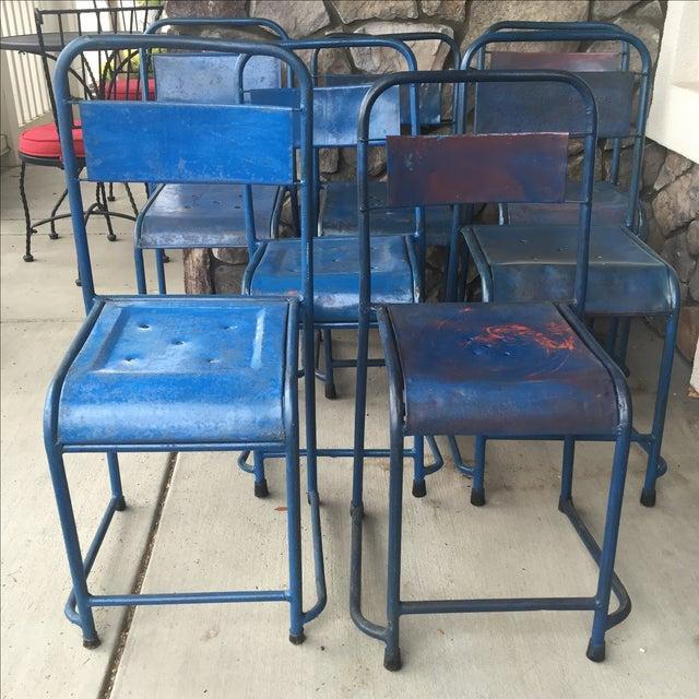 Vintage Bali Metal Garden Chairs - Set of 7 - Image 4 of 7