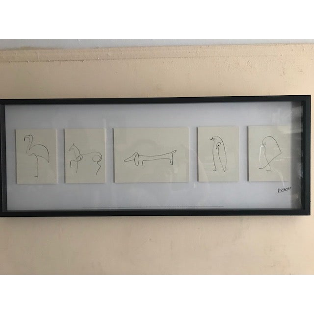 "Early 20th Century Antique ""Penguin"" Pablo Picasso Print For Sale - Image 11 of 13"