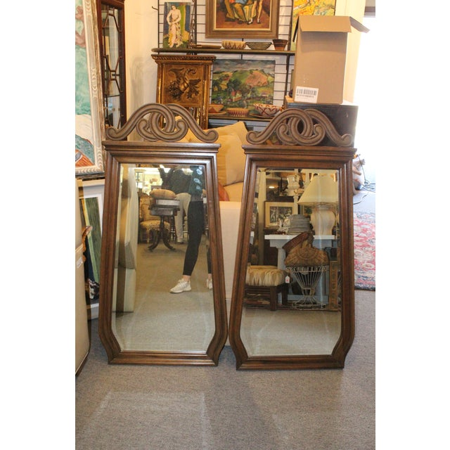 Art Nouveau Style Wall Mirrors - a Pair For Sale In New York - Image 6 of 6