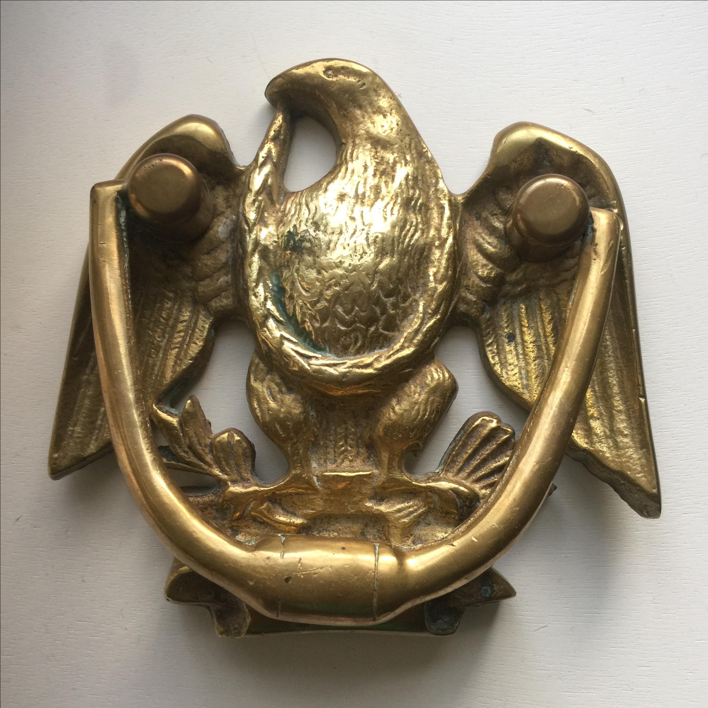 Solid Brass Eagle Door Knocker   Image 2 Of 8