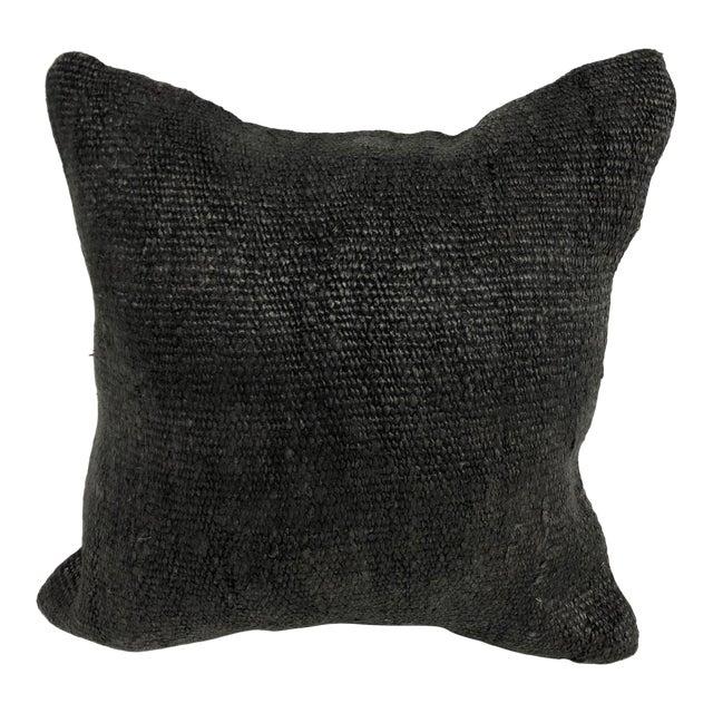 Turkish Anatolian Handmade Rustic Wool Kilim Pillow Cover For Sale