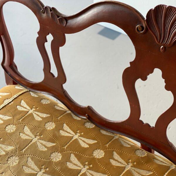 Brown Late 18th Century Venetian Carved and Painted Settee For Sale - Image 8 of 10