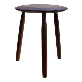 Beachcomber Milking Stool in Oiled Walnut For Sale
