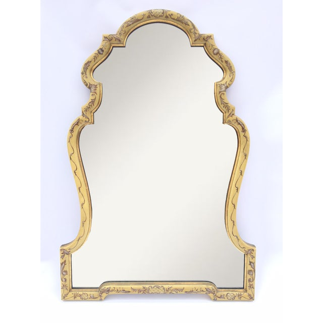 Baroque Gold Hand Painted Mirror by La Barge - Image 2 of 4