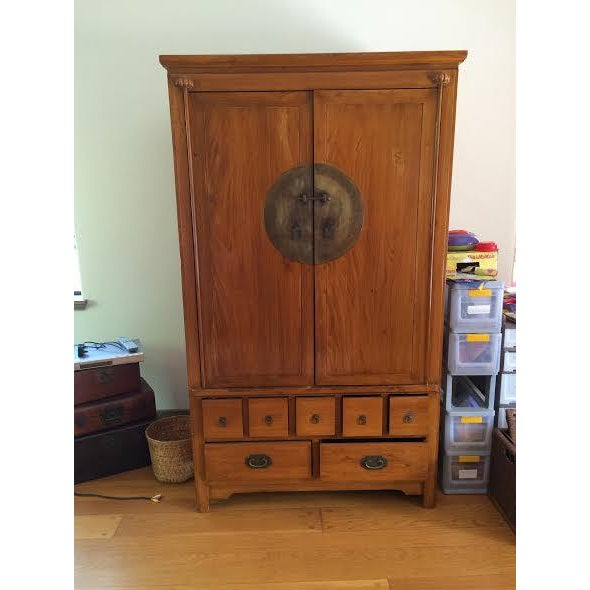 Chinese Medallion Cabinet/Armoire - Image 2 of 6