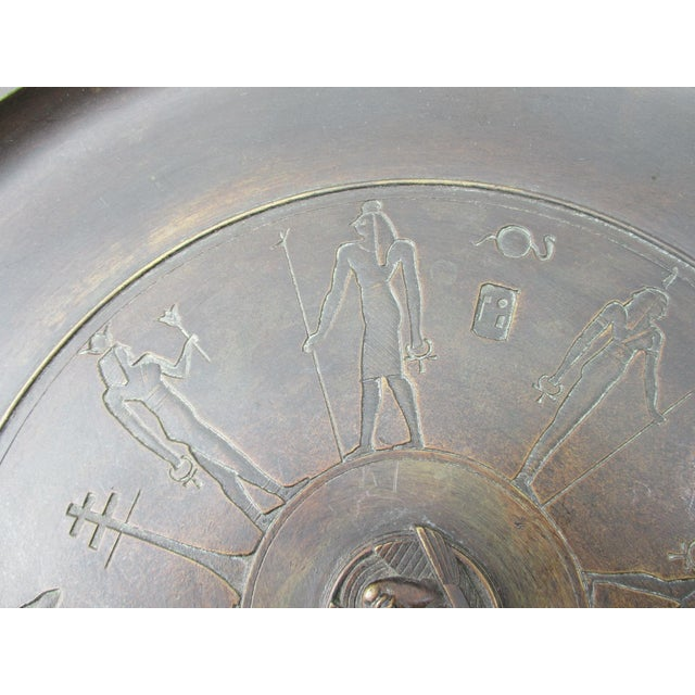 Egyptian Revival Bronze Tazza For Sale - Image 10 of 13