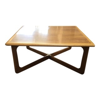 1960s Mid-Century Modern Lane Square Coffee Table For Sale
