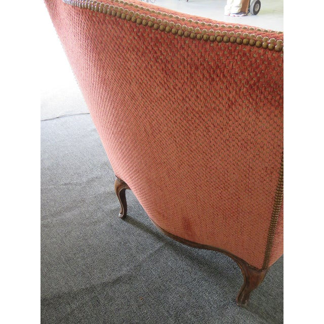 Wood Louis XV Style Wing Chair For Sale - Image 7 of 10