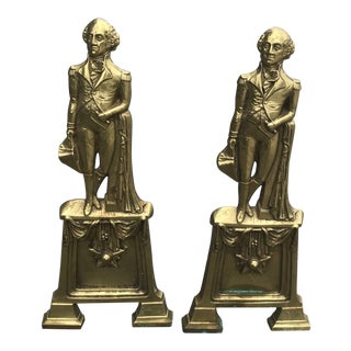 George Washington Andirons - a Pair For Sale