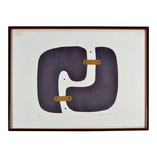 Conrad Marca-Relli Framed Collage, Circa 1969 For Sale