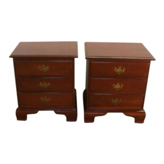 Chautauqua Solid Cherry Pair of Night-Stands For Sale