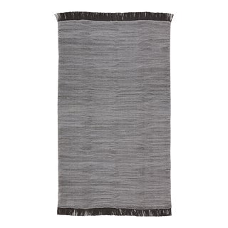Jaipur Living Savvy Indoor Outdoor Solid Gray Black Area Rug 4'X6' For Sale