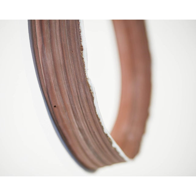 """Brick Red Yokky Wong """"Cycles"""" Series Wall-Mounted Porcelain Ring Sculpture #8 For Sale - Image 8 of 10"""